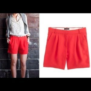 J.crew pleated dressy shorts in red